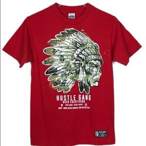 Hustlegang T-Shirt American Indian & $$ graphic